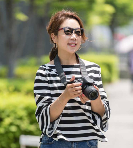 趣味のカメラのときに、サングラス